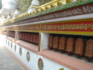 Mantras around the stupa